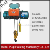 High performance Frequency-functionable Wire Rope Electric Hoist Lifting hoist 220V,440V.380V power supply