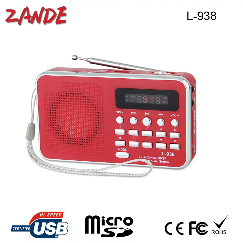 Portable fm auto scan radio with usb port l 938b with gift - Port scanner portable ...