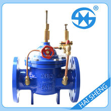 Cast iron flanged water flow control valve