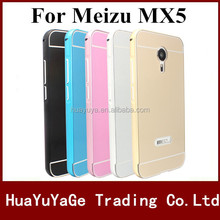Hot selling phone case Acrylic PC back cover case luxury aluminum metal frame Case For Lenovo A7000 K3 noteMeizu MX5