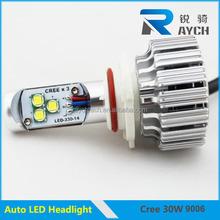 2015 auto car led light 30w 3000lm led headlight bulb 9006 lanterna led moto 12v