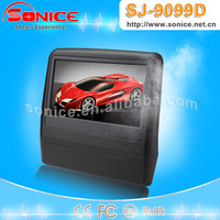 2015 Newest 9 inch car headrest dvd player with wireless game