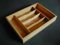 wooden material and handmade wooden cutting box with carved holder