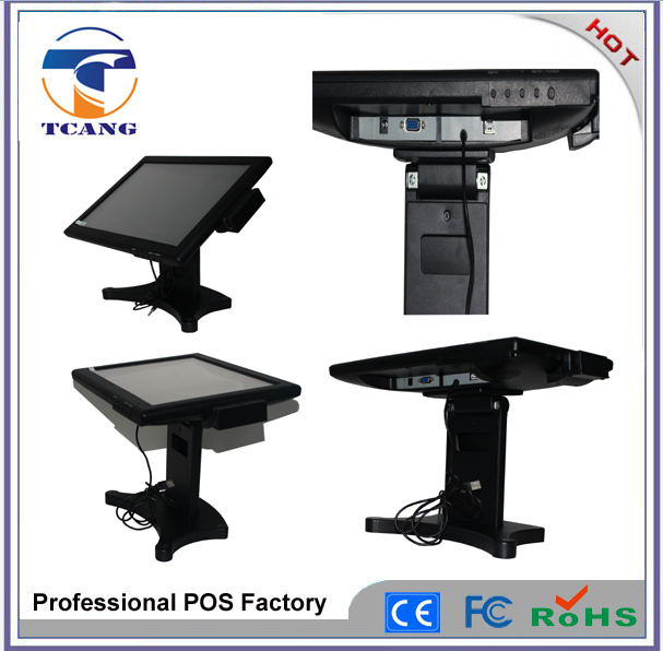 Tcang 15 inch hot selling all in one touch screen pos system monitor