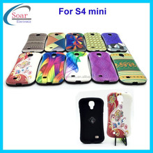 For Samsung galaxy S4 mini i9190 combo case,cute hybrid cover case for Samsung galaxy S4 mini i9190