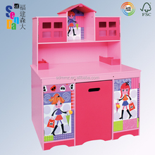 New 'Fashion Girl' Series Design Wooden Kid Desk and Chair Set