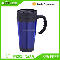 Factory Supply 14oz Plastic Coffee Cup with Ear-Shaped Handle RH131B-14