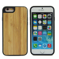 Customized Blank TPU Bamboo Cellphone Case For Iphone 6