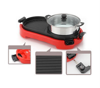 Premium quality multi-fuction with Steamboat Electric Teppanyaki Grill