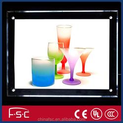 Acrylic photo frame led crystal light box frameless led crystal light frame