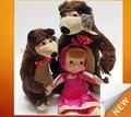 Boneca russa e masha urso de brinquedo blutooth boneca de brinquedo com música clms- 002