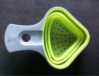 Silicone noodles spoon folding filter cooking tool