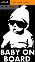 Funny truck car window laptop Hangover Baby on Board vinyl decal