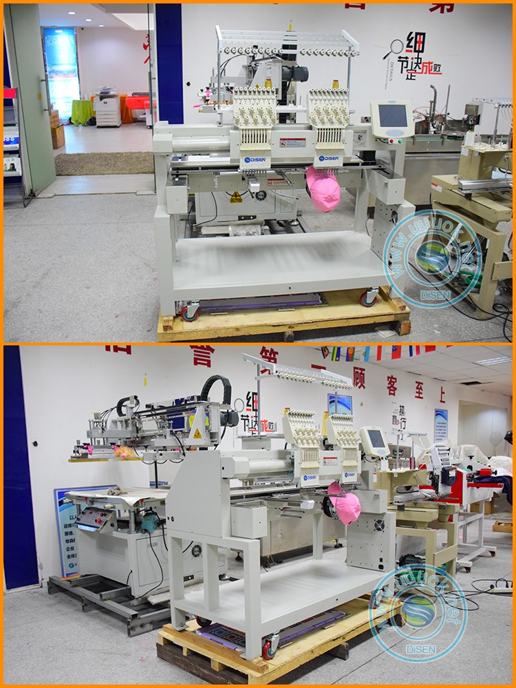 Automatic digital domestic china 2 head cap computerized embroidery machine price
