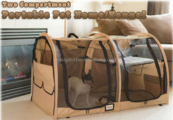 Pop-up Double Dog Kennel