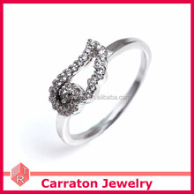 Christmas Gift Silver Factory Wholesale Children Single Angel Wing Ring