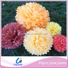 Paper Crafts Colorful Tissue Pom poms for Cheerleader