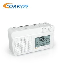 DAB / FM digital alarm weather clock radio with tuner
