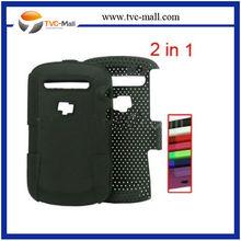 500PCS ODM TVC MALL Detachable Poriferous Plastic & Silicone Hybrid Case for BlackBerry Bold Touch 9900/9930