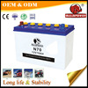 Super power engine start 12v 70ah auto battery for car