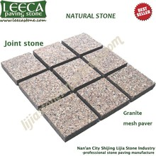 Granite exterior pavers,block paving,mesh cube.