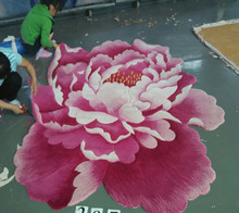 chinese flower shaped wool rugs