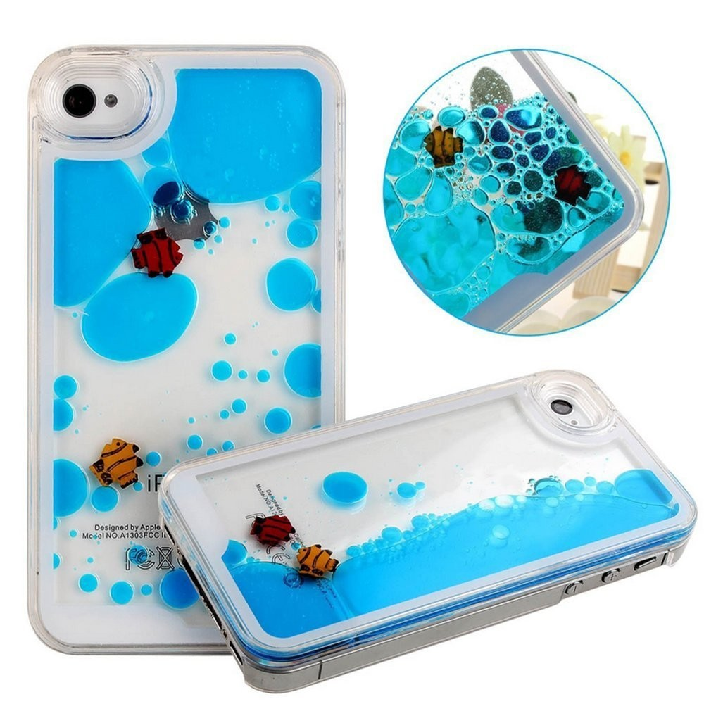 Plastic Cell Phone Case With Floating Fish And Duck - Buy Plastic Case ...