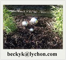 400mm 500mm 600mm Stainless Steel Golf Ball Decoration Sculpture