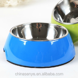 The pet cat / dog bowl stainless steel pet bowl basin bowl anti collision