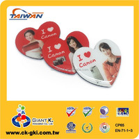 Home decoration promotional heart shape custom clear epoxy fridge magnet
