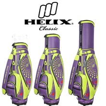 Helix women designer golf bag with wheels / ladies designer golf cart bag / women designer golf stand bag / PU golf bag