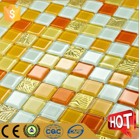 Bright color glass mosaic kitchen tile, swimming pool tile, bathroom wall tile