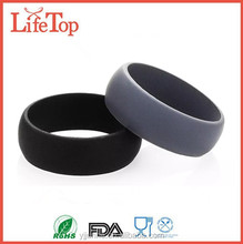 Flexible Mens Rubber Silicone Wedding Rings or thumb bands for Men LUX Silicone Rings