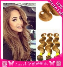 unprocessed cheap price virgin human honey blonde brazilian hair weaves extensions
