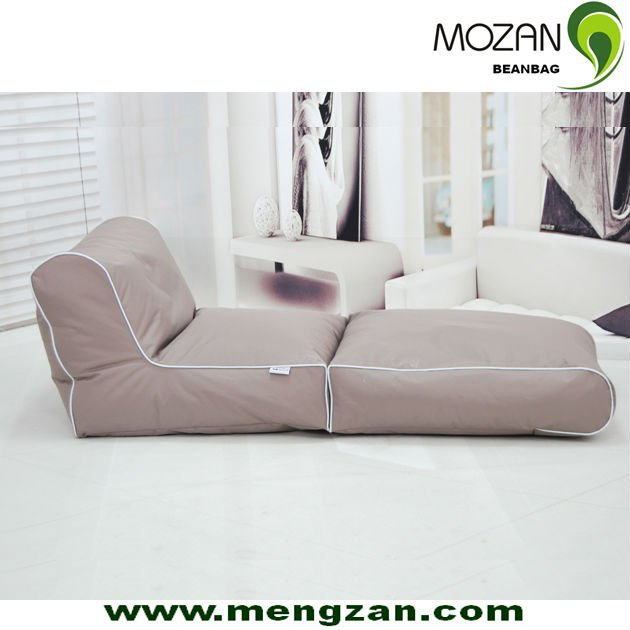 Hotel folable bean bag sofa covers with chaise lounge for Bean bag chaise lounge