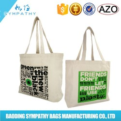 Wholesale custom color simple design student canvas tote bag catch bag