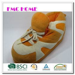 custom top quality promotion plush toy animal head slippers