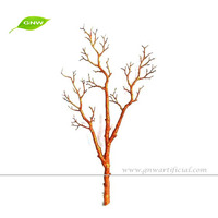 Artificial dry plastic tree branch for indoor decoration and wedding decoration