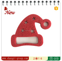 (XM4-12)Mini christmas santa hats felt Home decorative label