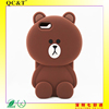 3d carton style animal silicone back cover for iphone 6 5.5'inch
