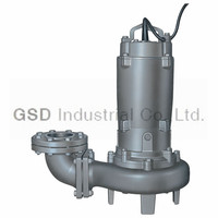 CP submersible solid handling pump for sewage water pump, solid passing, non-clog impeller