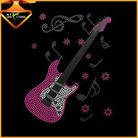 Custom gibson les paul guitar rhinestone transfers
