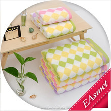 Cotton and Bamboo fiber fabric Yarn Dyed 34*74cm Hand towel and 70*140cm Bath Towel Towel Sets with Diamond