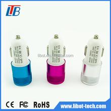 DC 12V-24V input 2 port 3 port usb car charger,usb portable car battery charger,car battery charger price down
