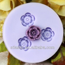 3 -flower shaped silicon handmade soap Mould DIY cake tools decorate chocolate mould baking & pastry tools