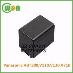3.6V 3000mAh 3400mAh Camera replacement Battery VBT380 battery for V110,V130,V710 VW-VBT380 rechargeable battery high capacity