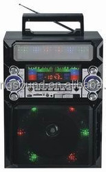 FM/AM/SW1-7 RECEIVER RADIO RECHARGE BATTERY WITH DISCO LIGHT