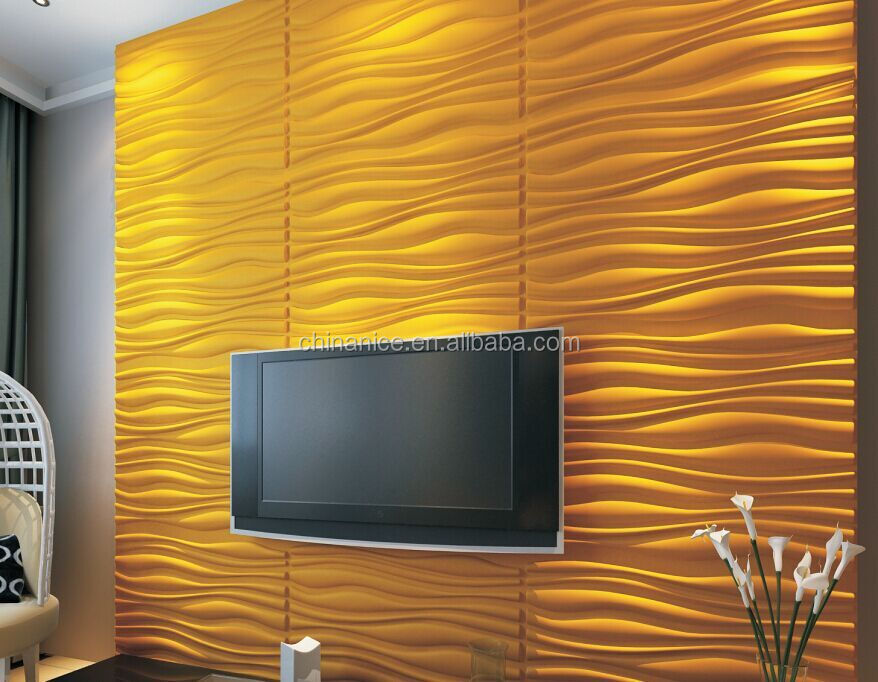 Lightweight Waterproof Mobile 3d Wall Panels For Interior Exterior Bathroom Decorative Wall