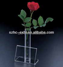 Factory supply acrylic crystal flower vase for decoration