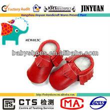 Sapatos de sola vermelha nu bonita de alta qualidade vermelho bebê sapatos macios únicos criança sapatos